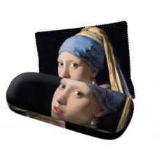 Brillenkoker incl. brillendoekje: Meisje met de parel, Johannes Vermeer, Mauritshuis