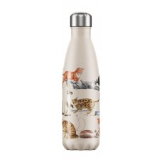 Chilly's Bottle 500ml Cats by Emma Bridgewater
