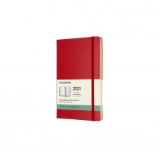 Moleskine 2021 Weekly NOTEBOOK Diary/ Planner  Large Hard Red