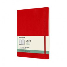 Moleskine 2022 WEEKLY NOTEBOOK DIARY X-LARGE Soft Red