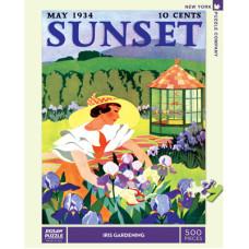 The New Yorker puzzle Sunset, Iris Gardening