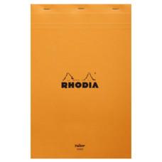 Rhodia bloc A4+ geniet gelinieerd oranje (geel papier)