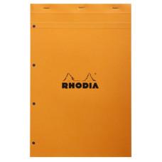 Rhodia bloc A4+ geniet geruit oranje