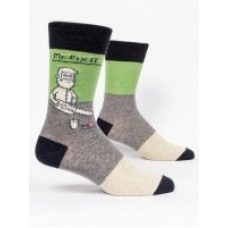 Mens Crew Socks, Mr. Fix It