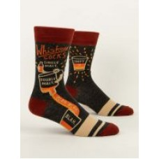 Mens Crew Socks,  Whiskey