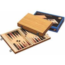 Backgammon blank houten kist  35x23 cm. (1181)