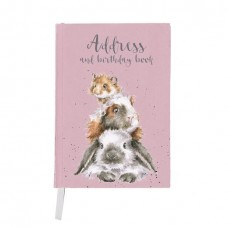 Wrendale Design by Hannah Dale  verjaardag en adresboek 'Piggy in the Middle'