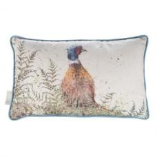Wrendale Design kussen 'Pheasant and Fern' rectangular cushion