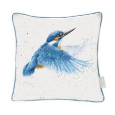"Wrendale Design kussen ""Make a Splash"" Kingfisher"