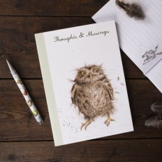 Wrendale Design by Hannah Dale Notebook Softcover A5  'What a Hoot' Owl