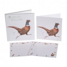 Wrendale Design by Hannah Dale Notecards   'Game Bird' Pheasant