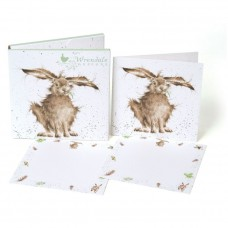 Wrendale Design by Hannah Dale Notecards    'Hare-Brained' Hare
