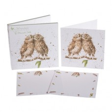 Wrendale Design by Hannah Dale Notecards 'Anniversary Owls'