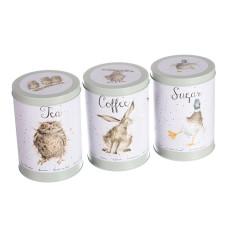 Wrendale Design by Hannah Dale blikken set koffie, thee en suiker