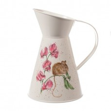 Wrendale Design by Hannah Dale flower jug / kan 'The Pea Thief'