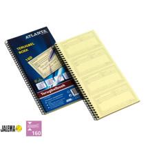 Terugbelboek Atlanta A5707-020 74x125mm 160x2stuks