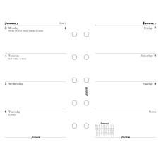 Filofax calendarium Pocket week on two pages English diary 2021