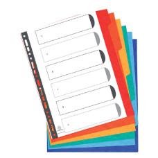 Tabbladen Exacompta 11-gaats extra breed 6-delig karton (geschikt voor 2 en 4 gaats)