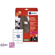 Badge Avery L4785-20 80x50mm Zelfklevend 200stuks