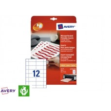 Badge Avery L4726-20 40x75mm Met Microperforatie 240stuks