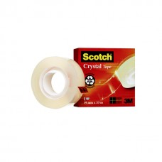 Plakband Scotch Crystal 600 19mmx33m transparant