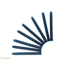 Waterman vulpenpatronen standaard lang blauw zwart 9 ( doos a 8 stuks )