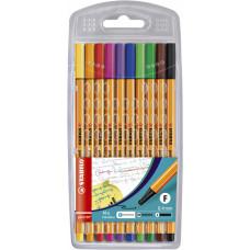 STABILO Fineliner POINT 88 SET a 10 kleuren